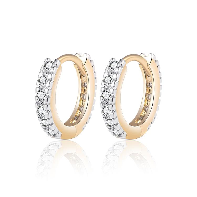 Nuevos pendientes de aro de color dorado 2019 para mujer boucle d'oreille Crystal Zircon Oorbellen Envío gratis (14E18k-08)