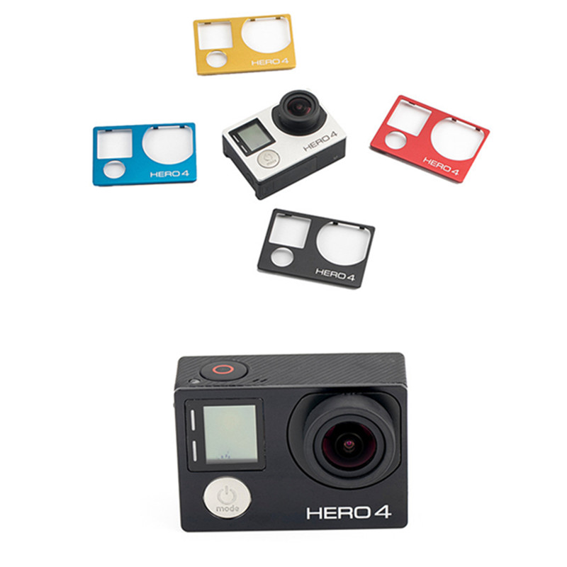 Suptig New Accessories  For Gopro Aluminum Front Board Cover Replacement Mount for Gopro Hero 4 Camera Faceplate Repair-in Sports Camcorder Cases from Consumer Electronics