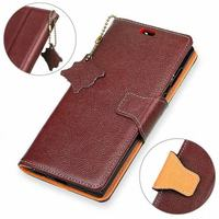 For Funda Huawei P8 Lite 2017 Case Luxury Genuine Leather Wallet Flip Protective Phone Cover For