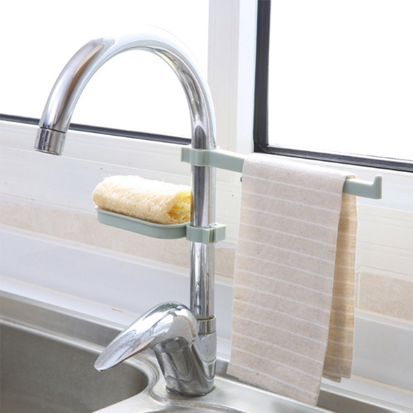 US $2.44 34% OFF|Kitchen Sink Shelf For Sponges Soap Multipurpose Tap  Storage Rack Bathroom Cleaning Cloth Drying Shelf Kitchen Supplies  EGN071-in ...
