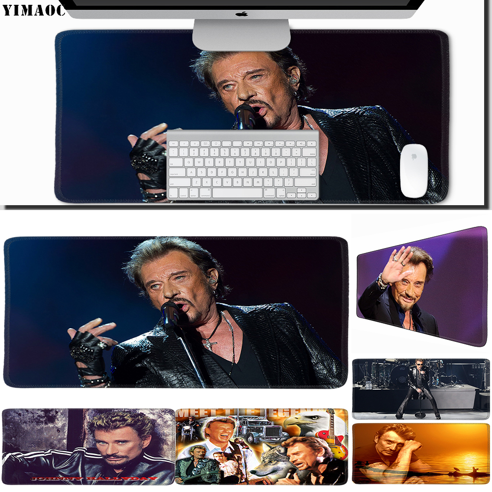 Mouse & Keyboards Frugal Yimaoc 40*90 Cm Large Mouse Pad Gamer Mousepad Rubber Gaming Desk Mat With Locking Edge Johnny Hallyday Computer Peripherals