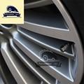 4 unids/pack negro Antirrobo del Neumático de Rueda de Coche de Acero Inoxidable Válvulas de Neumáticos Stem Cabezales de Aire Hermético Cubierta Para BMW car-styling