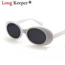 db4e4bce1 Longo Goleiro 2018 NIRVANA Kurt Cobain Oval óculos de Sol óculos de Sol Dos  Homens Das Mulheres Da Moda Quente Do Vintage Óculos.