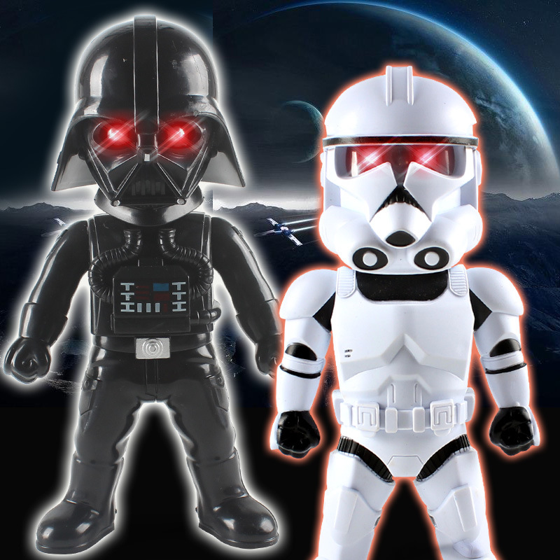 18.5cm Star Wars Figure <font><b>The</b></font> Force Awakens Darth Vader LED Luminescent Sound PVC Activity Model Action Figure Dark <font><b>Warrior</b></font> Toys