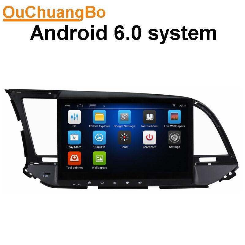Ouchuangbo car radio car digital media navi system for Hyundai Elantra 2016 support aux 3G WIFI android 6.0 OS