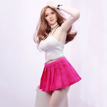 1/6 Scale Female White Wrapped Chest Tops and Pink Skirt for 12 Women Action Figures Bodies Accessories
