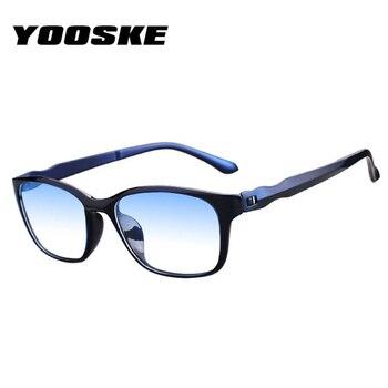 7afb18535f YOOSKE Vintage moda hombres gafas de lectura Ultra-luz Anti azul rayos  presbicia gafas para