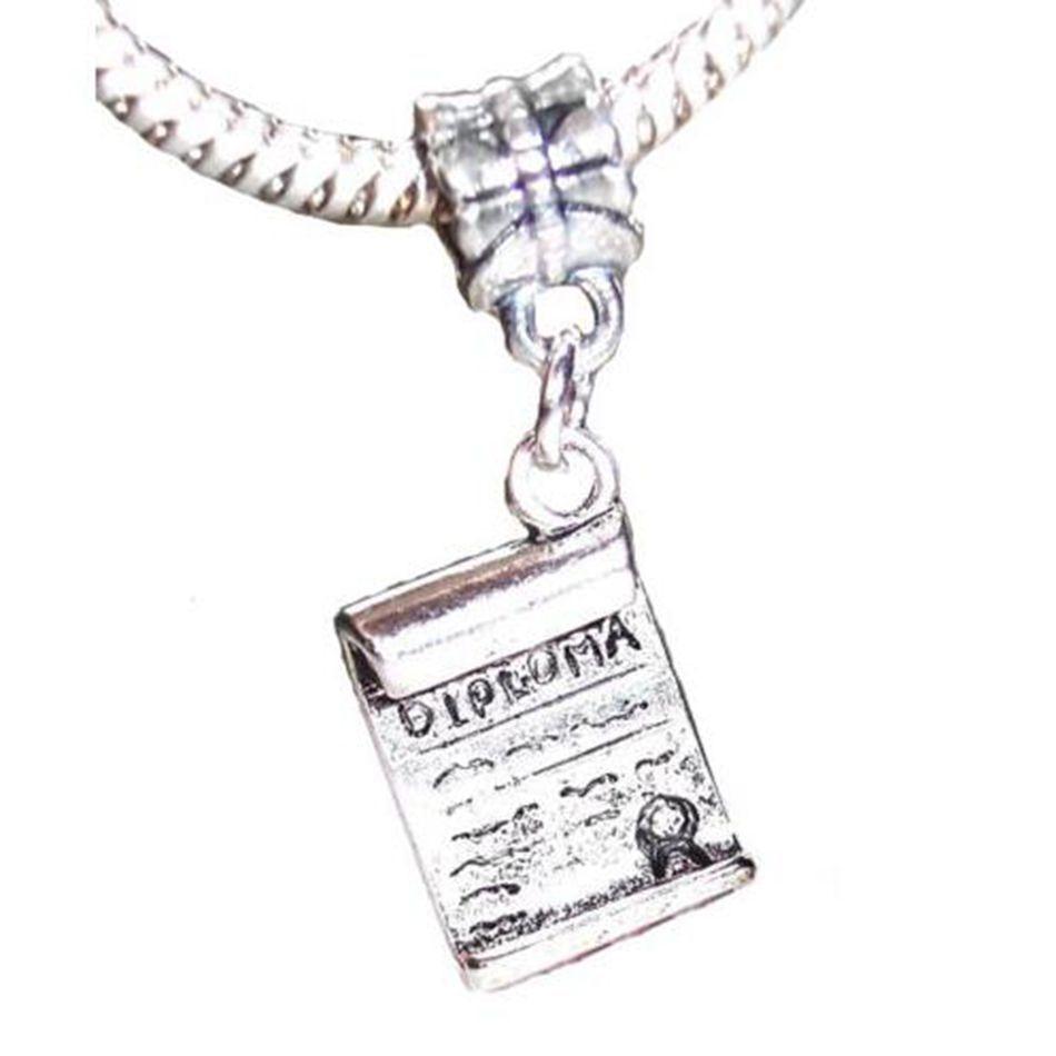 amplia selección última selección gran surtido € 18.37  200 piezas antiguo plata graduado graduación regalo encanto  colgantes para pulseras de cuentas europeas 32mm x 11mm A8911-in Amuletos  from ...