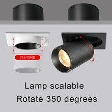 Встроенные 12 Вт светодиодный COB прожектор с высоким индексом цветопередачи Ra> 93 Бизнес Освещение для отелей лампы для украшения стен, лампа освещение салона