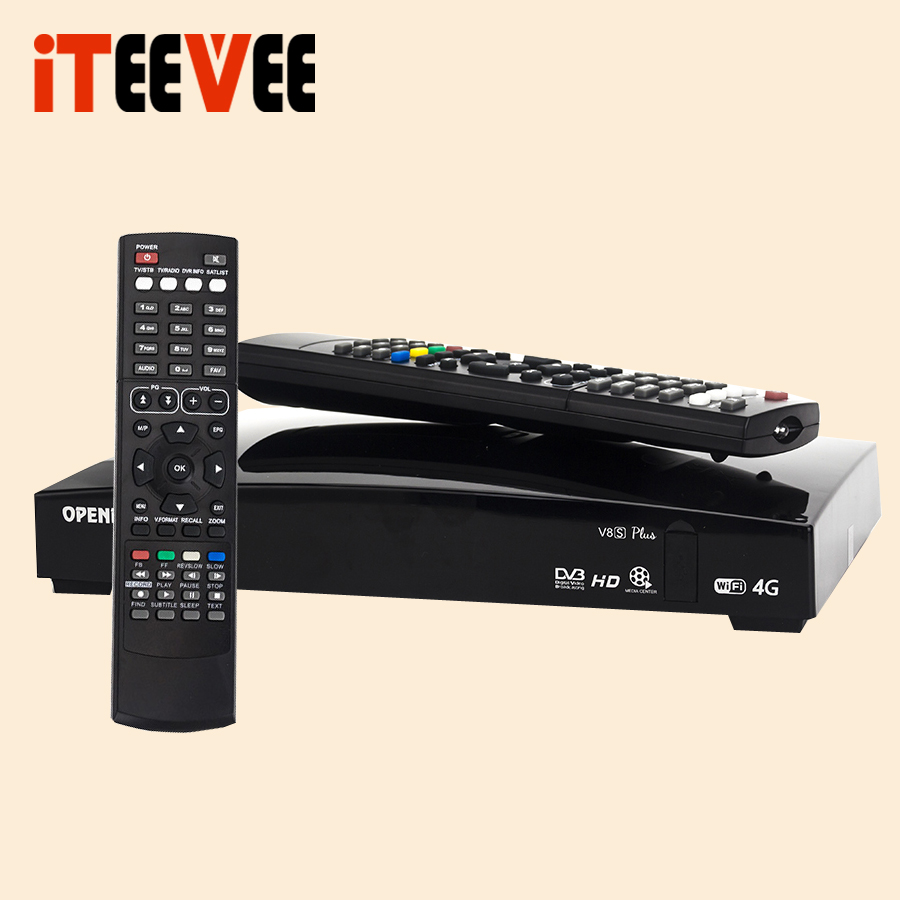 2PCS iTEEVEE O V8S PLUS Digital Satellite Receiver AV USB Wifi WEB TV Biss Key 2xUSB
