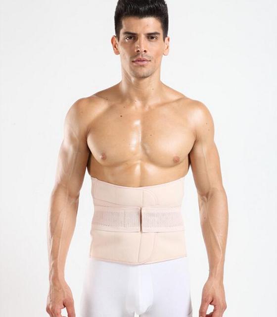 Men Sweat Girdle Slimming Abdominal Belt Waist Cinchers Back Posture Corrector Fit Body Trainer Band Bones Support Body Prayger 2