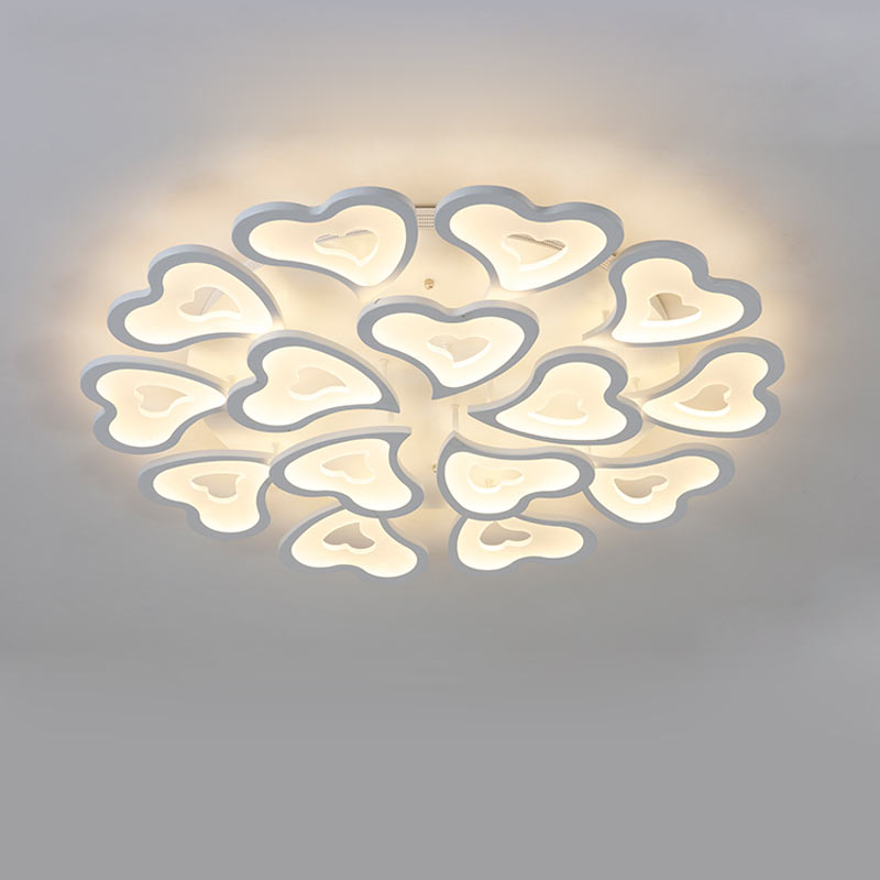 Modern Heart-shaped Acrylic Ceiling Lights Fixtures Bedroom Kitchen Living Room Led Lamp White Iron Indoor Decor Home Lighting japanese style living room bedroom led ceiling lights home indoor decoration lighting light fixtures modern led ceiling lamp