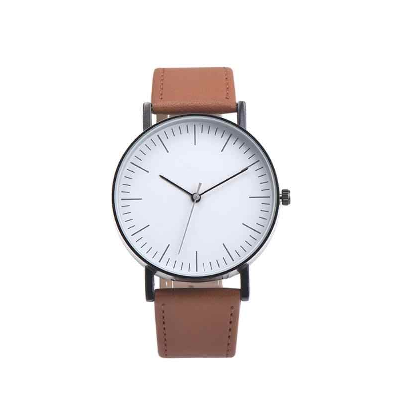 Quartz Wristwatches Relogio Masculino  Business Alloy  Watches Men High Quality Leather Band Analog  Watch relogio masculino