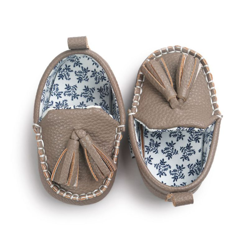 Winter Autumn Girl Boy Baby Shoes Moccasin First Walkers Tassel Kids Toddler Shoes Mocca Leather Prewalker Shoes Soft Sole S2