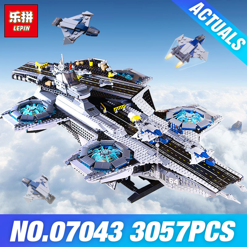 Stock Lepin 07043 Super Heroes The Shield Helicarrier Model Building Kits Blocks Bricks Toys Compatible 76042 DIY Children Gift super heroes batman the scuttler building blocks new year gift diy figures toys for children compatible lepins 3d model