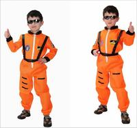Kids Orange Astronaut Costume Child Profession Cosplay Outfit Boys Fantasia Halloween Fancy Dress