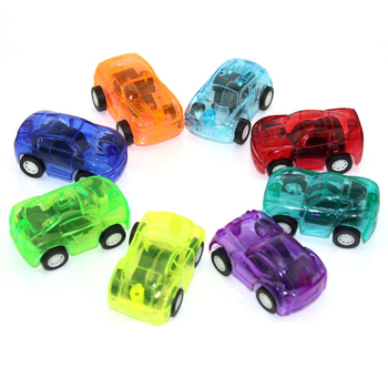 5pcs/Set Colored Children Pull Back Mini 5cm -Toy Cars Plastic Cute Vehicle Cars Child Wheels Model Toys For Boys Birthday Gift image