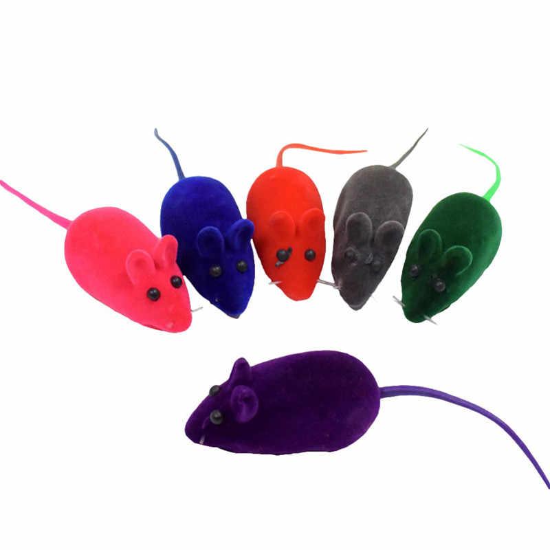 1PC Leuke Kat Speelgoed Massaal Muis Grappige Kitty Speelgoed Geluid Pluche Rubber Vinyl Muis Huisdier Kat Realistische Geluid Speelgoed interactieve Speelgoed