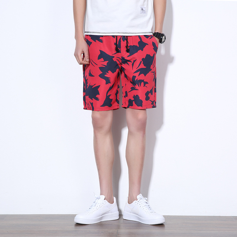 Brand Clothing Casual Shorts Men Cotton Drawstring Printing Mid Short Pants Summer Male Shorts Boardshort Bermudas