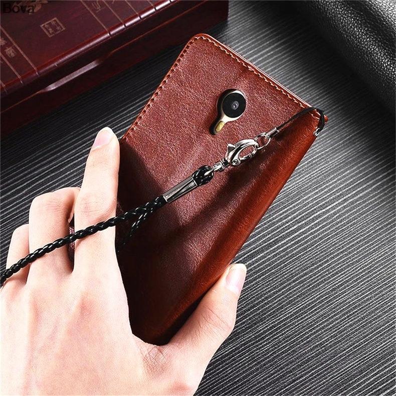 MEİZU M2 NOTE M571 Pu dəri qutusu üçün ultra nazik cüzdan flip - Cib telefonu aksesuarları və hissələri - Fotoqrafiya 5