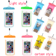 New Clear Waterproof Pouch Dry Case Cover For 6 0 inch Phone Camera Mobile phone Waterproof
