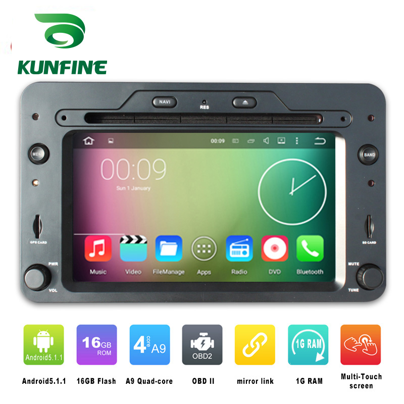 Quad Core 800*480 Android 5.1 Car DVD GPS Navigation Player Car Stereo for Alfa Romeo Spider (2006 onwards) Radio Bluetooth