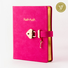 HUSH HUSH MY SECRET DIARY GOLD Edition, Journal Diary Notebook With Lock   *BEST SELLER