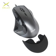 Delux M910BU Проводная 9 Кнопок игровая мышь 4000 dpi эргономичная оптическая мышь с подкладка для запястья для ПК игровой плеер ноутбука
