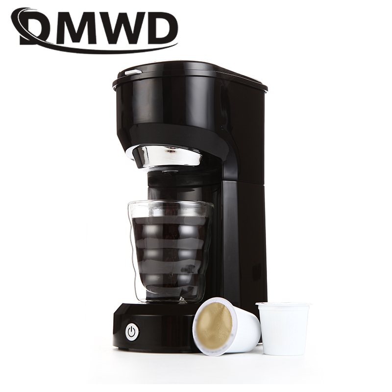 DMWD Electric Drip Coffee Maker Portable Mini Espresso Powder Capsules Cafe American Coffee Machine Extractor Cafe Stove 420ML hot 227g instant coffee black coffee powder chinese domestic coffee for slimming strong coffee weight loss cafe delicious food