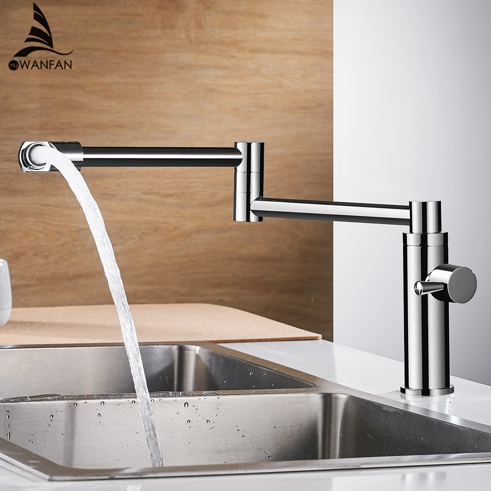 New Brass Kitchen Faucets Single Cold Water Tap for Kitchen Single Lever Water Mixer 360 Rotate