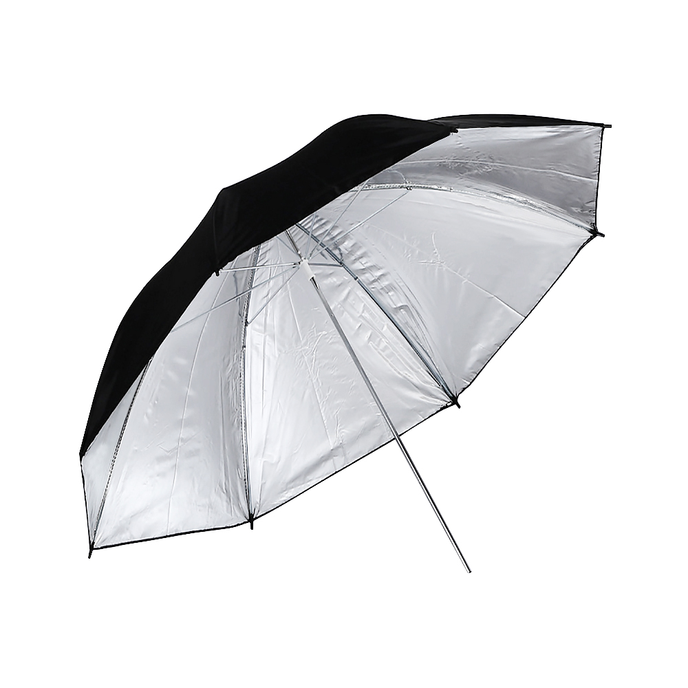 CY 1Pcs 83cm 33 Photo Studio Video Flash Light Grained Umbrella Reflective Reflector Black Sliver Photo Photography Umbrellas