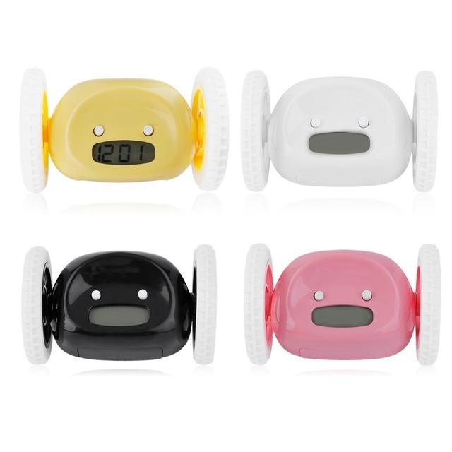 4 Colors Creative Design LCD Screen Display Running Alarm Clock