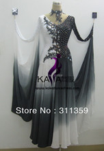 Free shipping,100% New Competition organza ballroom Standard dance dress,juvenile dance clothing,stage ballroom dress-B130314