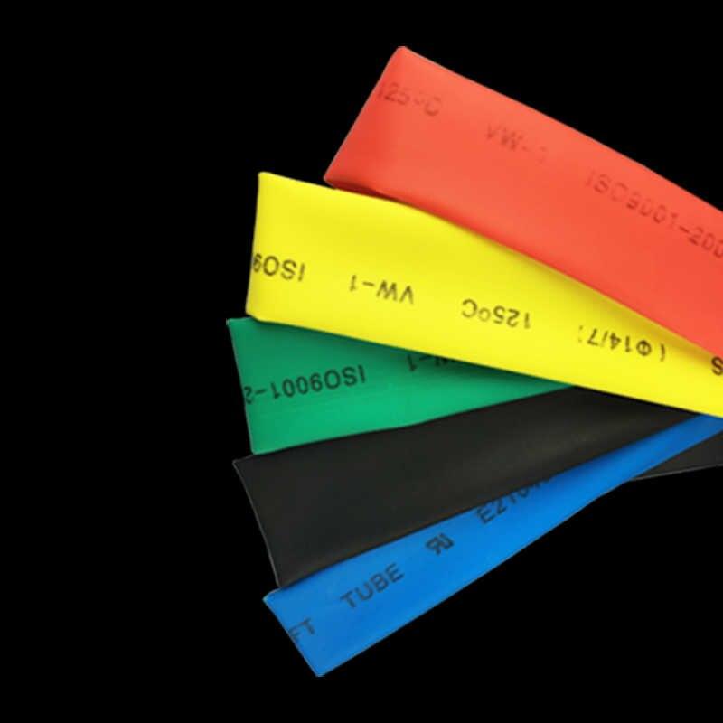 1メートル/ロット2:1熱収縮チューブ2ミリメートルcoloful熱収縮電気ケーブル絶縁チューブスリーブ
