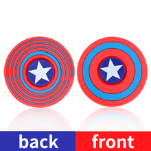 Captain America Silicone Hand Spinner Fidget Spinner Hand Two sided Spinners ADHD EDC Anti Stress Toys