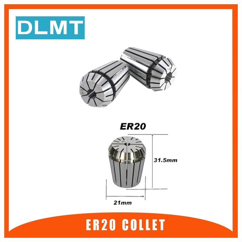 1pcs ER20 1-13MM 1/4 6.35 1/8 3.175 1/2 12.7 1 1.5 2 2.5 3 4 5 6 7 8Spring Collet Set For CNC Engraving Machine Lathe Mill Tool