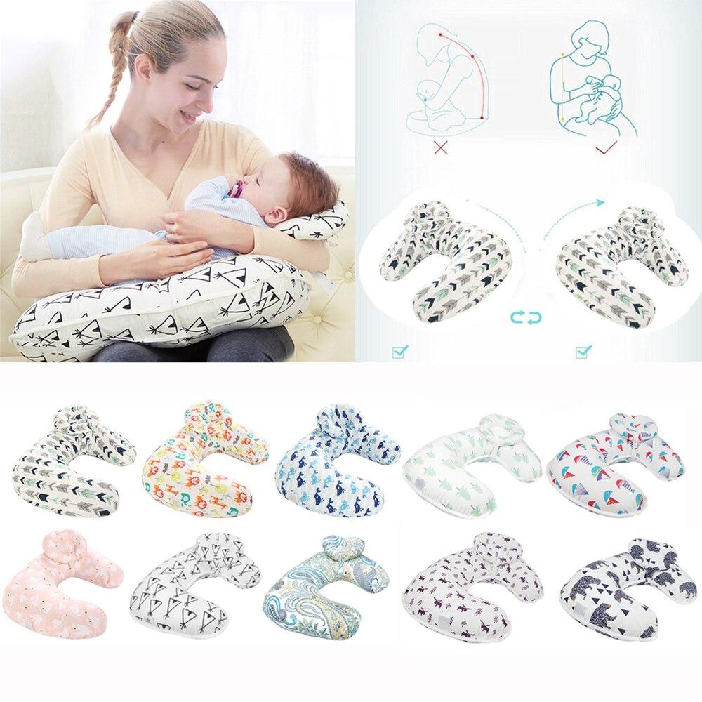 Baby Pflege Kissen Mutterschaft Baby Stillen Kissen Infant Cuddle U-förmigen Newbron Baumwolle Fütterung Taille Kissen Für Pflege Knitterfestigkeit Mutter & Kinder Kissen