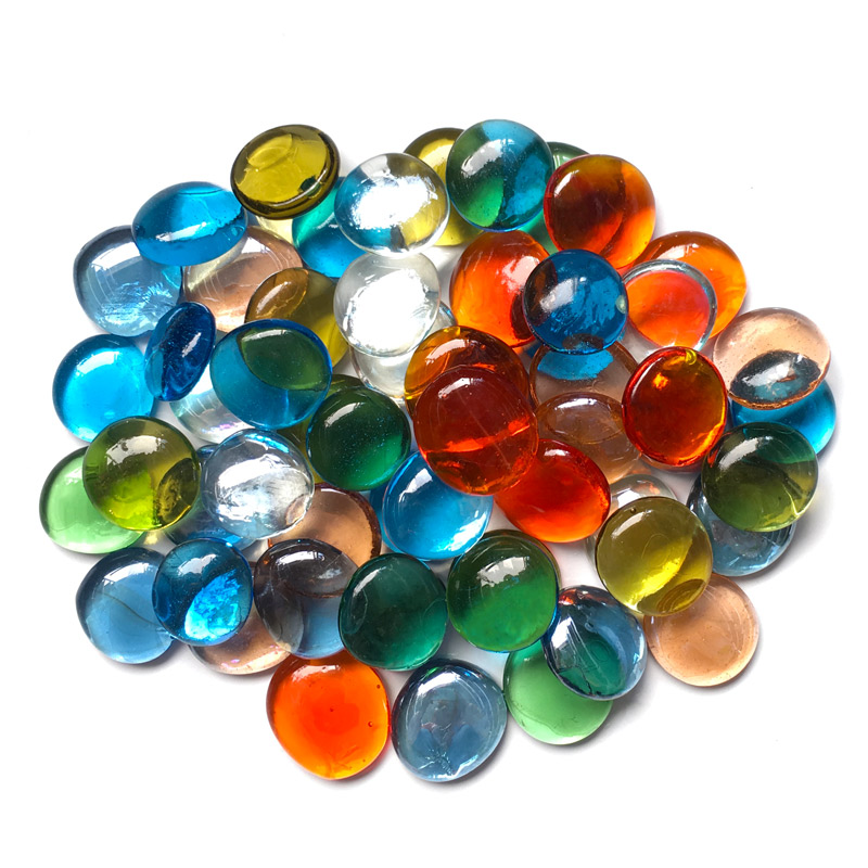 200g/16pcs 28 32mm Big Transparent Glass gems Glass drops