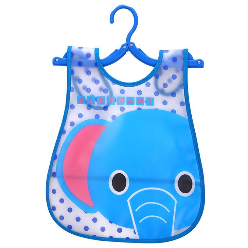1 Piece Baby Kids Bibs Saliva boy girls newborn cartoon Animals EVA Waterproof burp clot ...