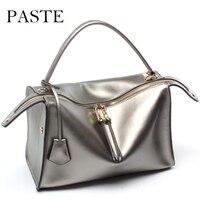 Luxury Women Designer Handbags High Quality Brand Boston Bag Italy Winter Shoulder Bag Patent Leather Tote