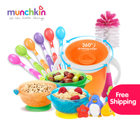 NewYear Kid Gift Packs Free Shipping Stay Put Suction Bowls Sippy Trainer Cup Soft Tip Baby