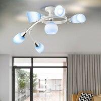 Krajem ameryki LED loft oświetlenie sufitowe lampy do salonu dzieci sypialnia oświetlenie nowoczesne oprawy szklane lampy sufitowe w Oświetlenie sufitowe od Lampy i oświetlenie na