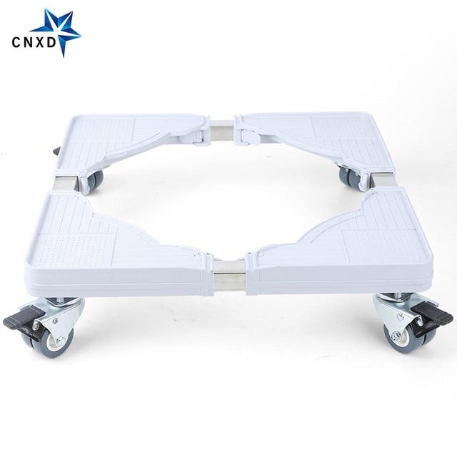 Suporte móvel para máquina de lavar, suporte ajustável para base móvel para geladeira universal