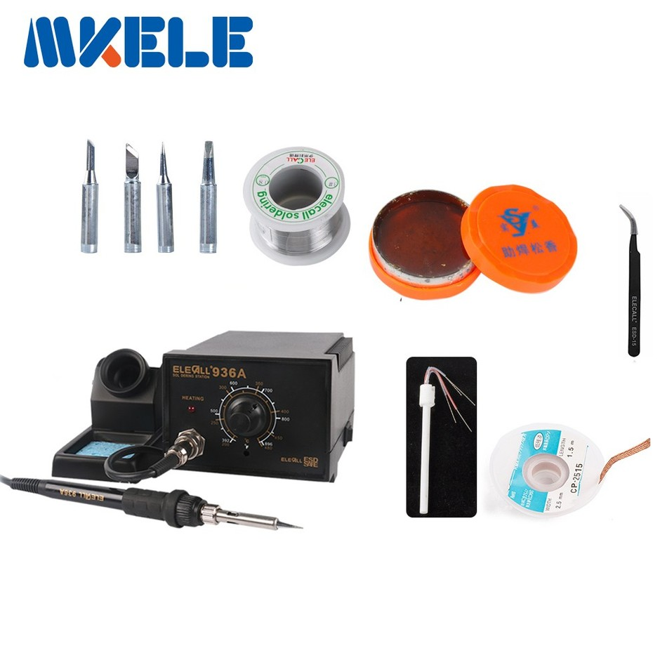 High-power 75W Anti static Soldering Station 936A set Electric Iron Welding Rework Repair Tool +lots gift as picture  цены