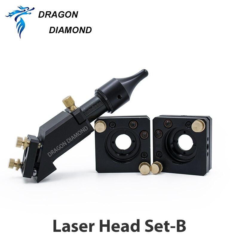 Купить с кэшбэком Original CO2 Engraver Cutter Laser Head B Set Focal Focus Lens Mirror Integrative Mount Free Shipping