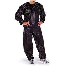 Водонепроницаемый Ветрозащитный ПВХ сауна костюм анти-рип тренировки Фитнес потеря веса Спортивная сауна одежда сплошной цвет спортивный костюм