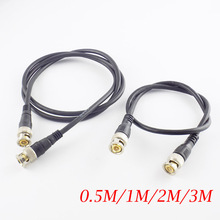 0.5M/1M/2M/3M BNC Male To Male Adapter Cable For CCTV Camera BNC Connection Cable High Quality BNC Accessories