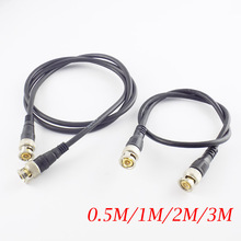 0.5M/1M/2M/3M BNC Male To Male Adapter Cable For CCTV Camera BNC Connector Cable Camera BNC Accessories arri camera alexa mini 8 pin connector power cable line camera power cable 1m