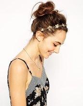 Золотой сплав металла hairbands с цветами и чиан, регулируемый украшения украшения для волос аксессуары для волос