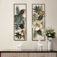 American Creative 3D Stereo Wrought Iron Artificial Flower Wall Hanging Ornament Decoration Home Livingroom Background Mural Art
